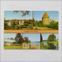 Greetings from Plau 5 Views Postcard (P372)