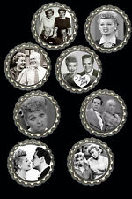 Bottlecap refrigerator magnets lot of 8 I love Lucy Theme  collectibles