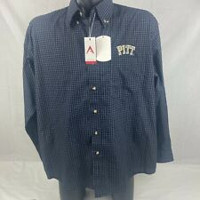 Antigua Mens Large University of Pittsburgh Pitt Panthers Button Down Shirt NWT