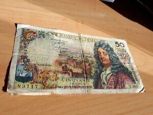 billet de 50 francs RACINE daté du:06/03/1975 état NEUF