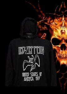 NEW!! LED ZEPPELIN PUNK ROCK HOODIES BLACK MEN's SIZES