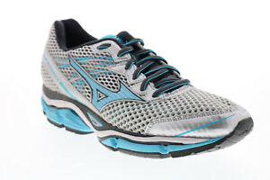 Mizuno Wave Enigma 5 R537B6 Womens Silver Mesh Lace Up Athletic Running Shoes 8
