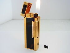 DUNHILL Rollagas Lighter Brown Marble Lacquer Gas leaks W/4p O-rings Auth Swiss