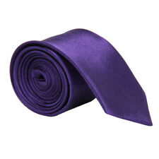 Skinny Tie Slim  Solid Color Plain Silk Men Jacquard Woven Party&Wedding Necktie