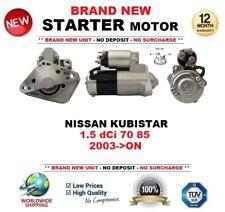 FOR NISSAN KUBISTAR 1.5 dCi 70 85 2003-ON BRAND NEW STARTER MOTOR 1.4kW 12-Teeth