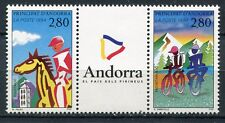 TIMBRE ANDORRE FRANCE NEUF N° 450 A  **  EQUITATION  VELO TOUT TERRAIN
