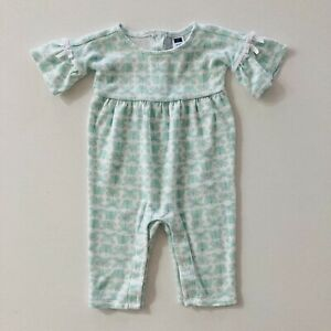 Janie & Jack Baby Girl Newborn 3 Months Romper Butterfly Mint Green