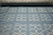 "Italian Silk Blend Jacquard Damask Futurology Pool Woven Drapery Fabric 55""W"