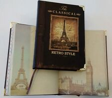 NEW PARIS EIFFEL TOWER RETRO CLASSICAL STYLE NOTEPAD BOOK JOURNAL DIARY MEMO