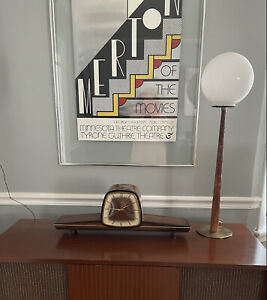 FRANZ HERMLE MID CENTURY MANTLE CHIME CLOCK W/KEY WEST GERMANY