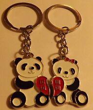 "Panda Bears key chains Pramid Candle , 6 "" high x 5.5"" x 5.5"""