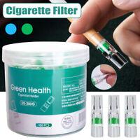 100Pcs Disposable Tobacco Cigarette Filter Smoking Reduce Tar Filtration Head
