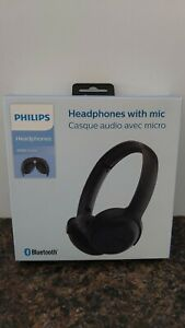 Philips Foldable Bluetooth On-Ear Headphones with Built-in Mic - Black