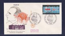 enveloppe 1er jour  centre art et culture  Georges  Pompidou    Paris       1977