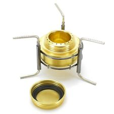 Spirit burner camping lid Cook stand brass mess kit alcohol stove tripod cooker