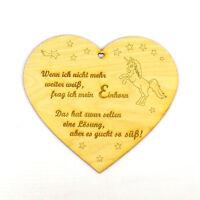 Geschenkidee, Herz aus Holz, Einhorn Liebhaber, für Kinder, Geburtstag, Geschenk