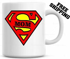 Super MOM Coffee Mug Cup Mothers Day Gift For Mother Christmas Gift