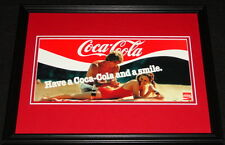 Vintage Coca Cola Coke Smile Framed 11x14 Poster Display Official Repro