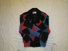 VTG 80s ADLER Color Block Leather Jacket Hip Hop Bomber Vaporwave Men Medium EUC