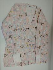 Women's size S Small RS Med Cute nurse print scrubs jacket.