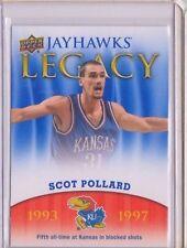 2013 Upper Deck Kansas Jayhawk Legacy #JL20 Scot Pollard Mint Jayawks KU SP