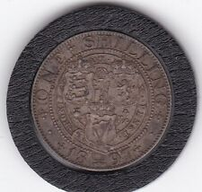 Very  Sharp   Queen   Victoria  1897  Sterling   Silver  Shilling  British Coin