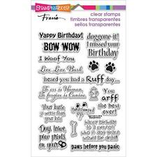 Stampendous Clear Stamps - Dog Sayings - Dogs, Puppy, Puppies,