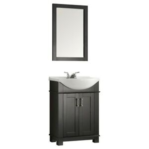 "Fresca Hartford 24"" Black Traditional Bathroom Vanity - FVN2302BL-CMB"