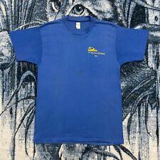 Vtg 1981 Running Shirt 10K Marathon 80s Graphic Tee Soft Paper Thin S/M Blue
