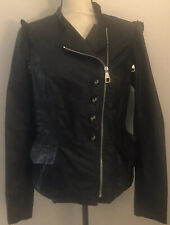 VIOLANTI Moto Jacket M Medium Black Nylon Removable Sleeves Gorgeous New $440