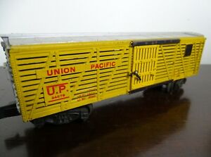 American Flyer S Gauge 24076 Union Pacific Cattle Car Pikemaster Coupler