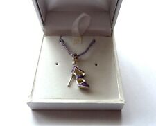 NEW  Genuine Authentic THOMAS SABO - Purple High Heel and Amethyst Necklace