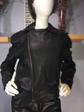 Vintage Bergman's Black Leather Biker Jacket Size S