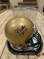 Joe Bellino Autographed/Signed Mini Helmet Navy Heisman