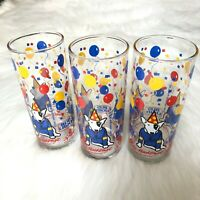 Vintage 1987 BUDWEISER Bud Light Spuds MacKenzie 3 Drinking Glasses