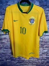 Rare Nike Ronaldinho Soccer Futbol Jersey Yellow CBF Brasil Size Large Hot 🔥