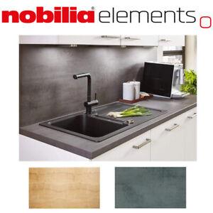 nobilia Nischenverkleidung 16 mm Küchenrückwand 70 cm Kante Eiche / Beton