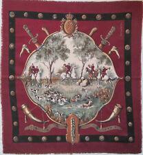 -Superbe Foulard  GUY LAROCHE  soie et laine  TBEG  vintage scarf  80 x 88 cm