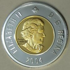 2004 Canada Silver Proof Toonie, Gold Plated