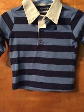 NWT - Infant Boys, Rugged Bear, Blue Long Sleeve Striped Shirt, 6-9 Months