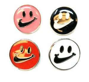 METALLIC ENAMEL NIKE SWOOSH SMILEY FACE LOGO CHECK MARK LAPEL PIN BUTTON RETRO