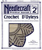 Needlecraft Practical Journal #41 c.1905 Vintage Crochet Lace Doily Patterns