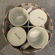 4 Handmade Decorated Coffee Cups *New in Box*