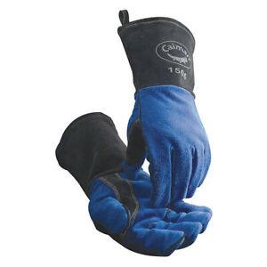 Caiman 1506 Mig/Stick Welding Gloves, Cowhide Palm, L, Pr