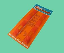 CAR VAN REFLECTIVE DOOR EDGE PROTECTOR GUARDS X2 Orange red + AMBER REFLECTORS