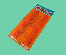 CAR VAN REFLECTIVE DOOR EDGE PROTECTOR GUARDS X2 Orange red + AMBER REFLECTORS