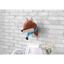 Piper Kids Brown Fox Animal Wall Decor (10 x 10 x 14 in) W/Hanging Loop; Mounts