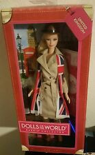 United Kingdom Passport Doll of the World DOTW Barbie NRFB Collector 2012 New UK