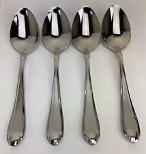 4 Place Oval Soup Spoons Oneida Satin Garnet 18/10 Stainless China