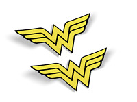 Wonder Woman LOGO VINYL 3M, VINYL STICKER, (2 items) FREE SHIPPING